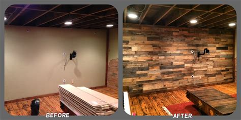install an accent wall wood paneling ideas for coastal recycled pallet wood accent wall sustainable lumber company
