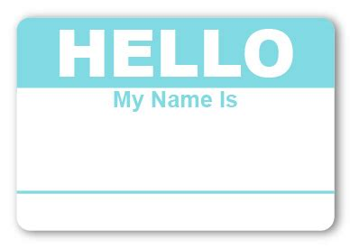 light blue name sticker hello my name is light blue name tags
