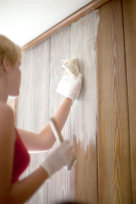 how to whitewash wood paneling in a few simple steps fresh