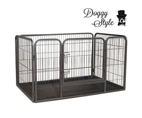 small puppy playpen expandable pet pen small w floor tray carpet vidalondon