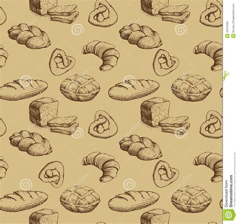 vector background pattern pack bakery seamless background pattern stock vector image