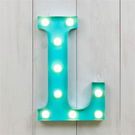 "L Vegas Metal 11"" Mini LED Letter Lights Marquee Letters  Cult UK"