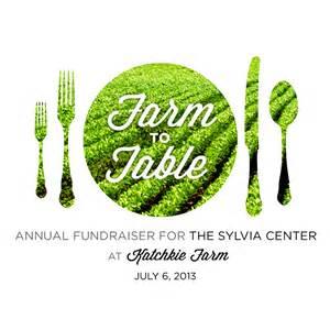 6th annual farm to table dinner the sylvia center