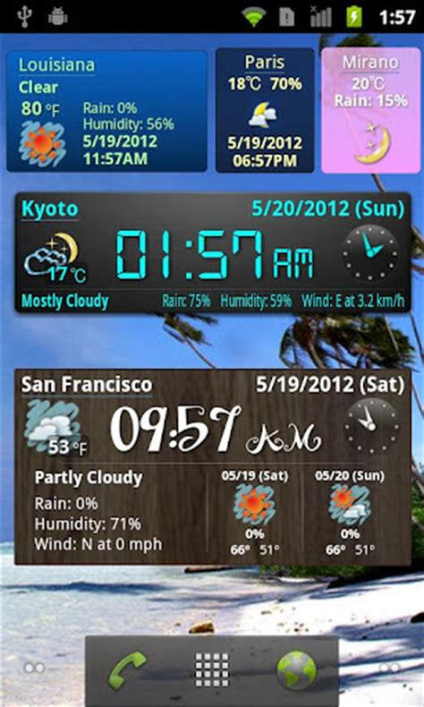 best widget apk world weather clock widget apk for android