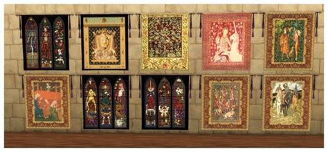 medieval wall tapestries  simdoughnut sims  updates
