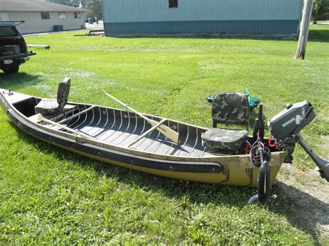 canoes that can take a motor canoe sq stern ebay