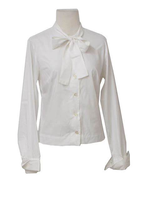 Caitlin White Blouse Funnel Sleve womens white collared blouse clothing