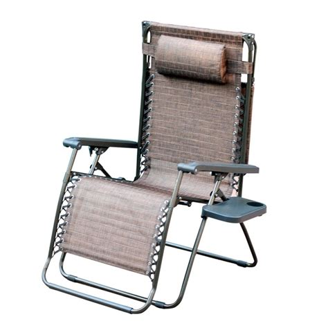 Oversized Patio Chairs Jeco Oversized Zero Gravity Chair In Brown Mesh Set Of 2 Gc9 2