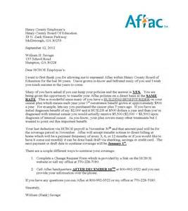 Employment Benefit Letter Employee Benefits Aflac Insurance Continuation