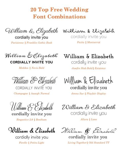 Wedding Invitation Font Pairing by 18 Best Wedding Invitation Font Combinations Images On