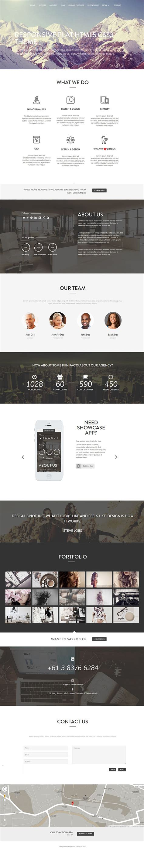 one page parallax html template mountain one page parallax html template on behance