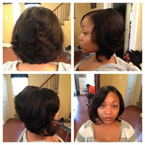 hair weave for feathered ombre hairstyle for african american only quick weave feathered bob by r devonne i love hair and