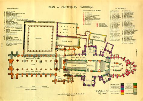 cathedral floor plan medieval canterbury