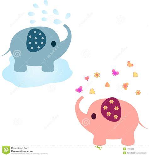 Elephant Illustrations, Pink Elephant, Blue Elephant Stock ...