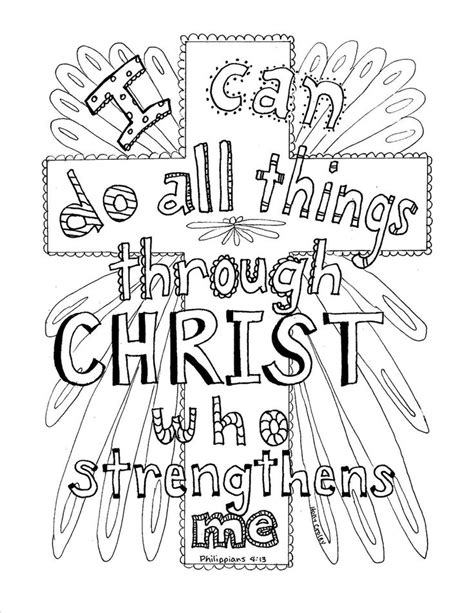 coloring pages with scripture philippians 4 13 scripture coloring page coloring books