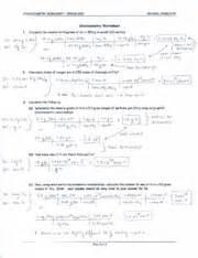 writing and balancing chemical equations worksheet
