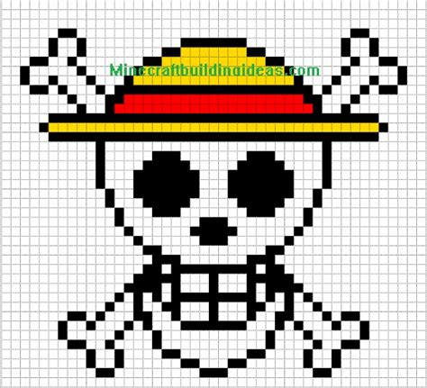 minecraft pixel templates minecraft pixel templates straw hat luffy pixel