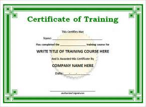 19 training certificate templates samples examples