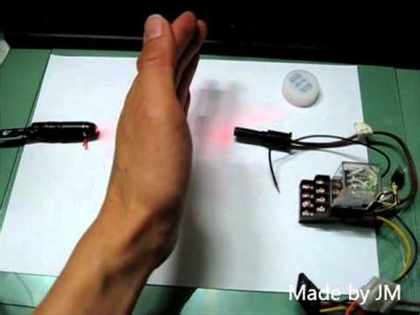 laser alarm circuit made of junk components