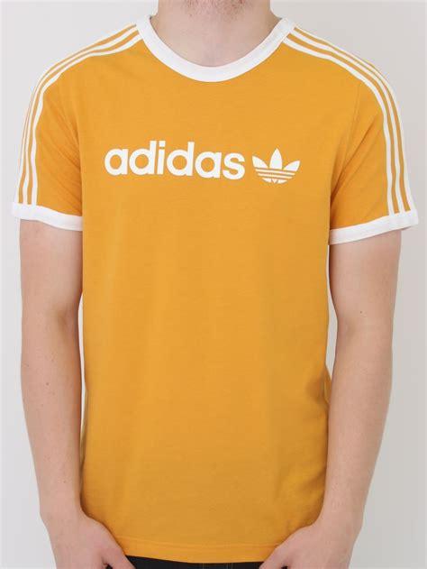 Tshirt Adidas Yellow adidas originals linear t shirt in yellow northern threads