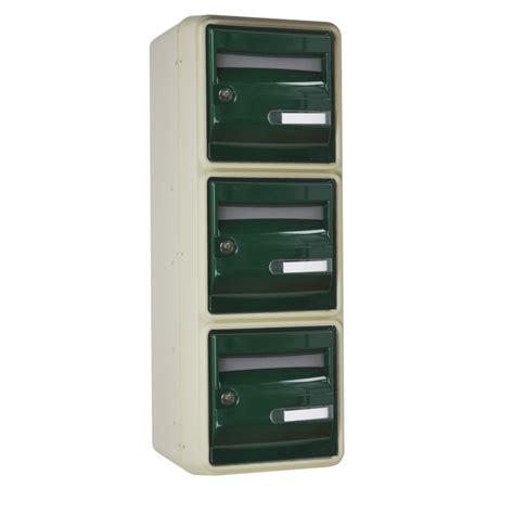 bloc 9 boites aux lettres collectives aux normes sur 2 pieds