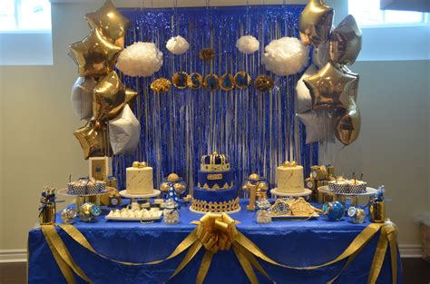 prince baby shower decorations