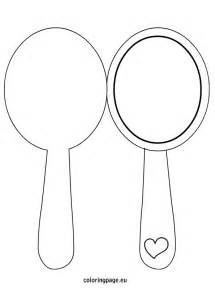 mirror will template mirror template for coloring page