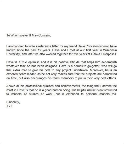 Character Reference Letter For Middle School Student view source image letters of recommendation