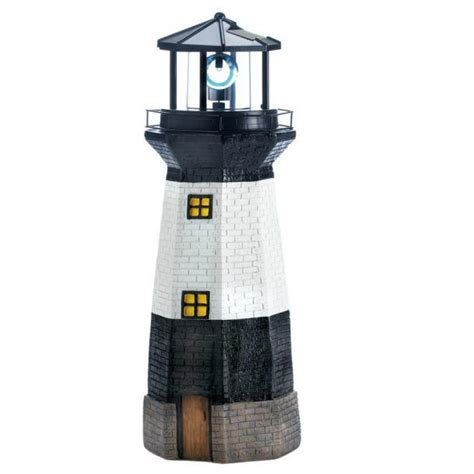 statue with solar light solar lighthouse garden statue with rotating light