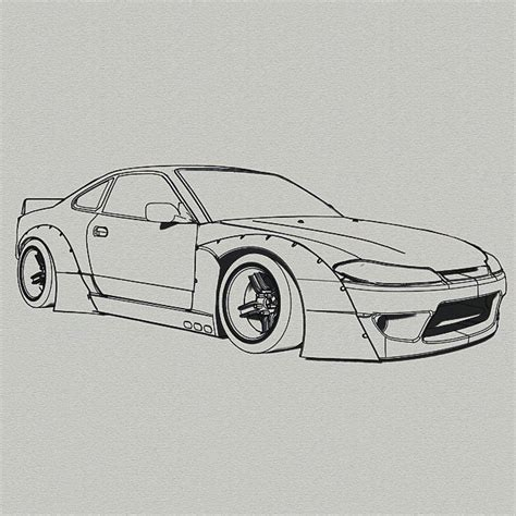 nissan silvia drawing rocketbunny nissan silvia s15 on instagram