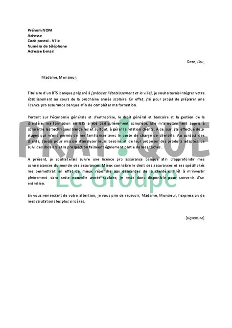 Lettre De Motivation Banque Back Office Lettre De Motivation Licence Banque Employment Application