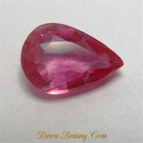 Batu Permata Ruby Africa 39 1 Carats batu mulia ruby pear shape warna pinkish berat 0 75 carat
