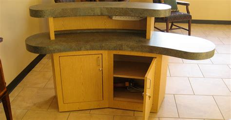 Check In Desk Furniture five unit 142 inch x 128 inch plex reception desk