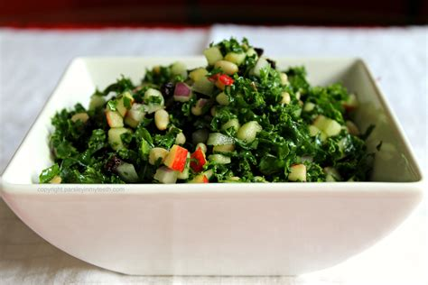 Detox Salad Recipe Currants Parsley by Kale Salad With Black Currants Pine Nuts Apple
