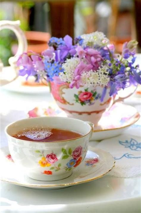 Cup Of Flowers & A Cup Of Tea Pictures, Photos, and Images for Facebook, Tumblr, Pinterest, and