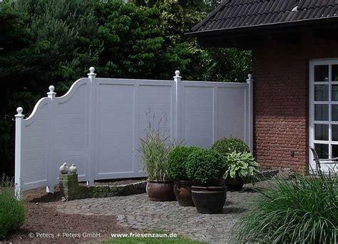 Gartenzaun Weiß Holz Sichtschutzzaun Holz Weis Lasiert Bvrao