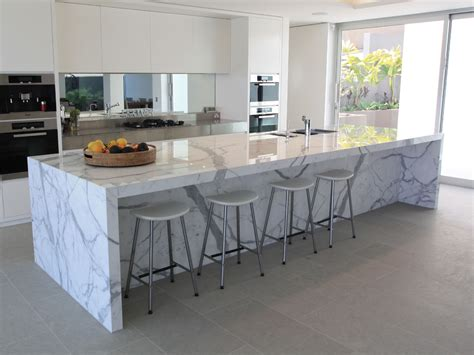 marble island kitchen beautiful calacatta marble for interior design attractive