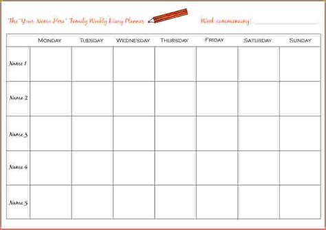 weekly planner  bookletemplateorg