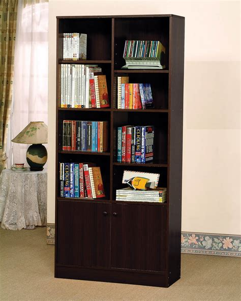 Espresso Book Rack by Complete Your Office With Our Espresso Finish Book Shelf