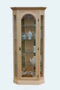 Maple Corner Curio Cabinet Hardwood Corner Curio From Dutchcrafters Amish Furniture