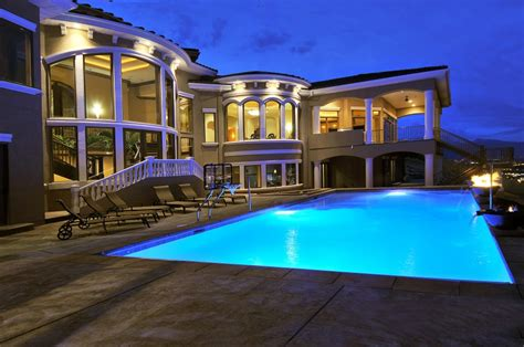 dream house a pool in the front of the house is a bit large swimming pool design applied in front area of