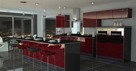black and red kitchen ideas black and red kitchen home decorating ideas