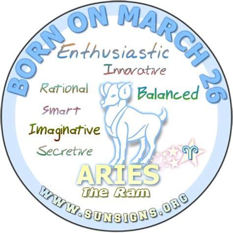 december 26 birthday horoscope zodiac sign personality march 26 birthday horoscope personality sun signs