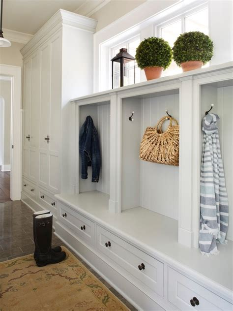 custom mudroom bench fantastic mudroom with tiled floors and custom cabinetry