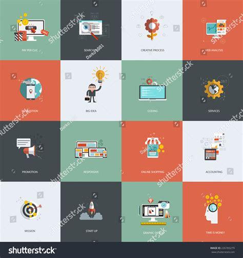 design analysis icon design services icon set set flat design concept icons pay stock vector 226783279