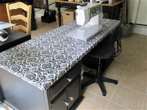 How To Cover A Desk With Contact Paper vinyl covering for cutting table craft rooms