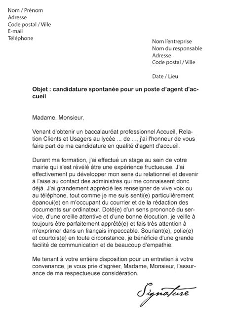 Exemple De Lettre De Motivation Mairie Lettre De Motivation Mairie D Accueil Mod 232 Le De