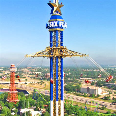 highest swing ride record breaking texas skyscreamer at six flags over texas