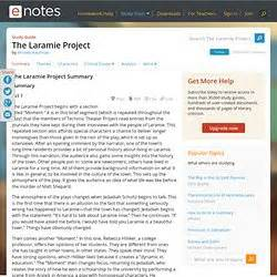 the laramie project introduction overview english subjects pearltrees