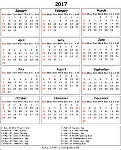 Calendario 2018 Canada 2017 Calendar Canada Printable 2017 Calendars